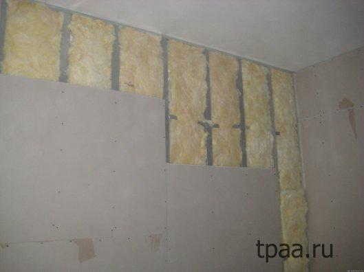 Утепление стен гипсокартоном , отделка стен