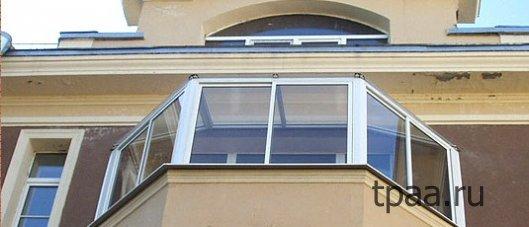 Панорамное остекление крыши на балконе — эстетично и надежно