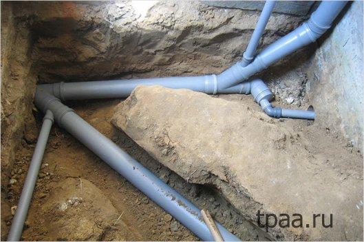 Установка канализации для частного дома