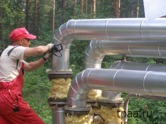 Монтаж теплоизоляции