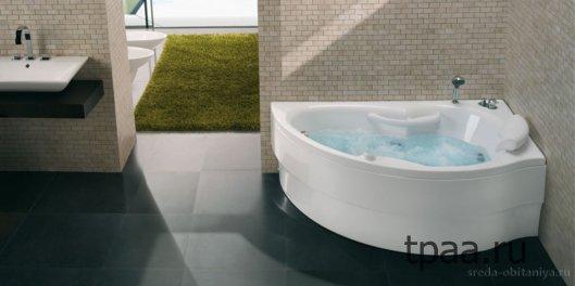 Модельный ряд современных угловых ванн