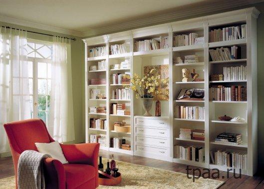 Выбираем вместительный книжный шкаф